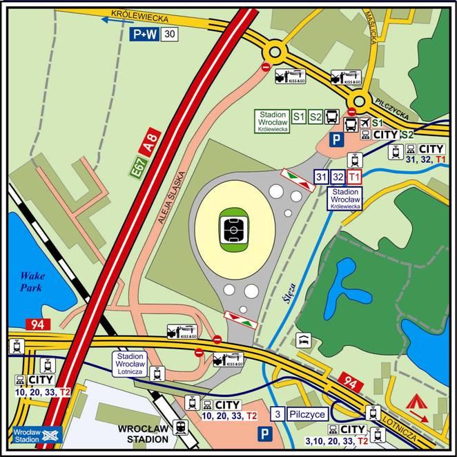 Ruch wokół stadionu EURO 2012
