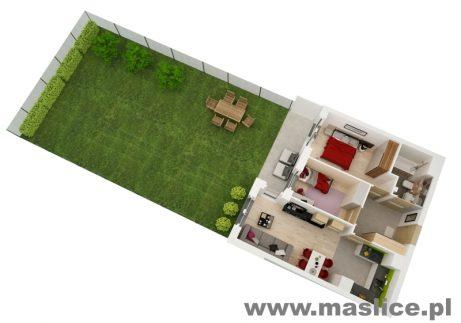 Maślice mieszkanie Reszelska 14-2 ogródek