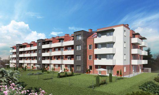 Maślice wizualizacja budynku ul. Reszelska 12-14