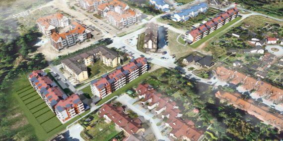 Maślice wizualizacja budynków ul. Reszelska 12-14; ul. Augustowska 66-66b; ul. Ostródzka 44-44e